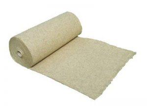 Tapis de protection contre les mauvaises herbes en fibre de chanvre, vendu au mètre (EUR 9,90 /m²), 1200g/m², 1 x 5 m, env. 1 cm d'épaisseur, tapis de protection des plantes, tapis de protection pour l'hiver, tapis de revêtement à base de compost, 100 % b image 0 produit