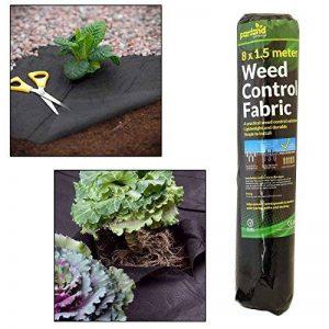 Tissu de lutte contre les mauvaises herbes 50gm 1.5m x 8m noir de la marque Parkland image 0 produit