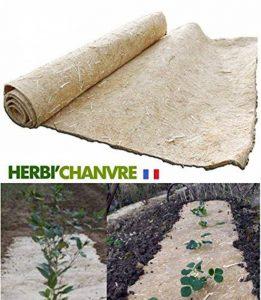 Toile de paillage Herbi'Chanvre - 56cm de largeur en 5m - 100% Chanvre Biodégradable 100% Français - Idéal pour le paillage des Tomates de la marque Herbi'Chanvre - Géochanvre image 0 produit