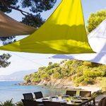 Toile solaire Voile d'ombrage 2 x 2 x 2 m imperméable pour ombrager votre jardin, votre terrasse ou votre balcon- Coloris BLANC de la marque HESPERIDE image 3 produit