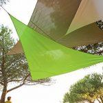 Toile solaire Voile d'ombrage 3 x 3 x 3 m imperméable pour ombrager votre jardin, votre terrasse ou votre balcon- Coloris BLANC de la marque HESPERIDE image 3 produit