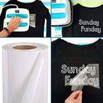Transfert de chaleur en vinyle Rouleau, mat HTV Vinyle pour t-shirts 30,5 cm par 10 Pieds Rouleau 30*150cm blanc de la marque SUNREEK image 1 produit