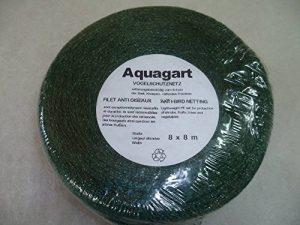 Type aquag® Filet de protection contre les oiseaux 8m x 8m Fruits Légumes Largeur de maille réseau 10mm x 10mm arbre de la marque Aquagart image 0 produit