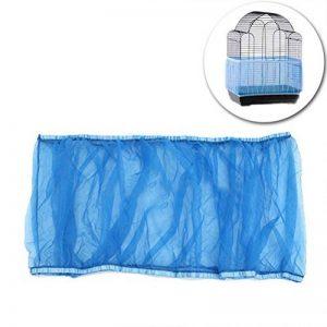 UEETEK Housse pour Cage Oiseaux Maille Couverture Protection Cage Oiseaux Perruches Canaris Attrape Graine Bleu Taille L size L de la marque UEETEK image 0 produit
