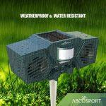 Ultrason solaire Animal et Répulsif–avec 30'détecteur de mouvement, LED Clignotant–Pest Control pour Raton laveur, chats, chiens, cerfs, oiseaux Motif–Résiste aux intempéries–Comprend 3piles et câble USB de la marque Abco Tech image 4 produit