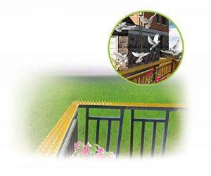 UPP® Dorn Barre/Chat Protection/oiseaux/Protection Pikes/oiseaux SCHRECK/épines/Chat Répulsif/Barre de Protection/Protection anti-martres 10 Meter marron de la marque UPP image 0 produit