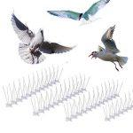 WARKHOME 10 Pièces de 24 CM de Pics Anti Pigeons - 3 Rangées de Pointes en Acier Inoxydable - Répulsif Pigeon Kit Pics pour Oiseaux de la marque WARKHOME image 2 produit