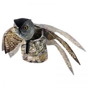 WARKHOME Hibou Anti Pigeons Hibou Anti Oiseaux Épouvantail Décoratif Épouvantail Chouette - Effraie les Oiseaux, Rongeurs, Eloigne Nuisibles de la marque WARKHOME image 0 produit