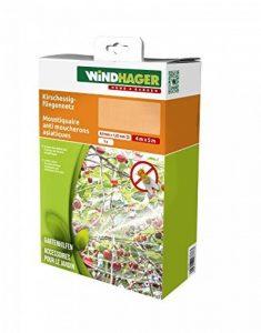 Windhager Filet anti mouche Suzukii protection contre les insectes et les oiseaux pour arbres fruitiers, blanc, 4x 5m, 06778 de la marque Windhager image 0 produit