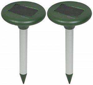 Woodside - Lot de 2 anti-taupes/anti-rongeurs solaire - système d'ultrasons de la marque Woodside image 0 produit