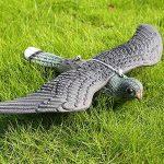 WOOPOWER Flying Hawk Leurre Bird DISSUASION, décoration de jardin Flying Hawk Faux Faux Leurre de chasse d'oiseaux, Corsé Antiparasitaire Jardin Cat and Bird Répulsif de la marque WOOPOWER image 1 produit