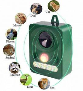 Workingda Répulseur d'animaux à ultrasons solaire, répulsif sauvage et anti-nuisibles, activé avec le mouvement, les lumières ultrasoniques et clignotantes de LED Répulsif imperméable extérieur pour les chiens, les chats, les renards, les souris, les oise image 0 produit