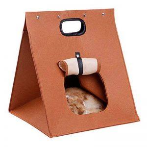 XIYAO Maisons et dômes Corbeilles Lit Avec Coussin + Maille Respirent Sacs de Transport Sac à Main Piable Pour Chats Lapin Hamster Cochon d'Inde-Convient pour Environ 8 kilos d'animaux de compagnie de la marque XIYAO image 0 produit