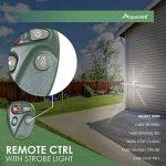 Yard Sentinel RC Animal Répulsif ultrasonique avec détecteur de mouvement, télécommande 4touches, Strobe & Sonic Predator son (prise britannique) de la marque Aspectek image 3 produit