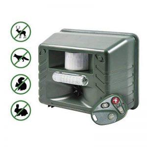 Yard Sentinel RC Animal Répulsif ultrasonique avec détecteur de mouvement, télécommande 4touches, Strobe & Sonic Predator son (prise britannique) de la marque Aspectek image 0 produit