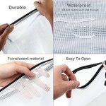 YOTINO 12 pochettes pour documents, souples, extra solides, imperméables, poches zippées, sac en filet, pour formats de papier DIN B4, A4, B5, A5, B6, A6 de la marque YOTINO image 1 produit