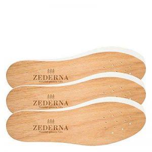 ZEDERNA - 3 paires de semelles en cèdre agissant sur les causes de la transpiration, des mauvaises odeurs et des infections, comme les mycoses ou le pied d'athlète - confortables et naturelles. de la marque ZEDERNA image 0 produit