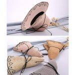 ZHANWEI chapeau de soleil chapeau de plage Saison d'été Femme Chapeau de paille Fibre végétale Protection contre le soleil Élargir le bord Round top Pliable, 8 couleurs, 55-57cm ( Couleur : Gris ) de la marque ZGANWEI-maozi image 2 produit
